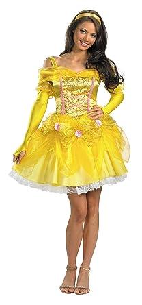 UHC Womenu0027s Sassy Princess Belle Beauty And Beast Disney Halloween Costume ...  sc 1 st  Amazon.com & Amazon.com: UHC Womenu0027s Sassy Princess Belle Beauty And Beast Disney ...