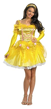 uhc womens sassy princess belle beauty and beast disney halloween costume