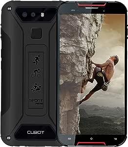 CUBOT Quest Lite 4G IP68 Móvil Todorerreno para Viajes o Deporte Smartphone Impermeable Botón Personaliado 3GB RAM 5.0 Pulgadas Android Dual SIM Dual Cámara 12Mp 3000mAh Type-C Negro y Rojo: Amazon.es: Electrónica