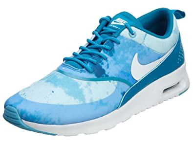 911913e89 Nike WMNS AIR Max Thea Print, Chaussons Femme, Bleu - Bleu, 42.5 ...