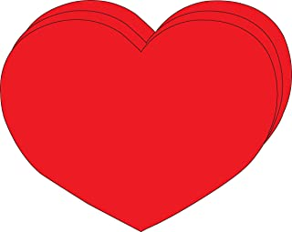 """product image for 8"""" x 10"""" Heart Single Color Super Cut-Outs, 15 Cut-Outs in a Pack for Kids' Love and Peace School Craft Projects, Valentine's Day Craft."""