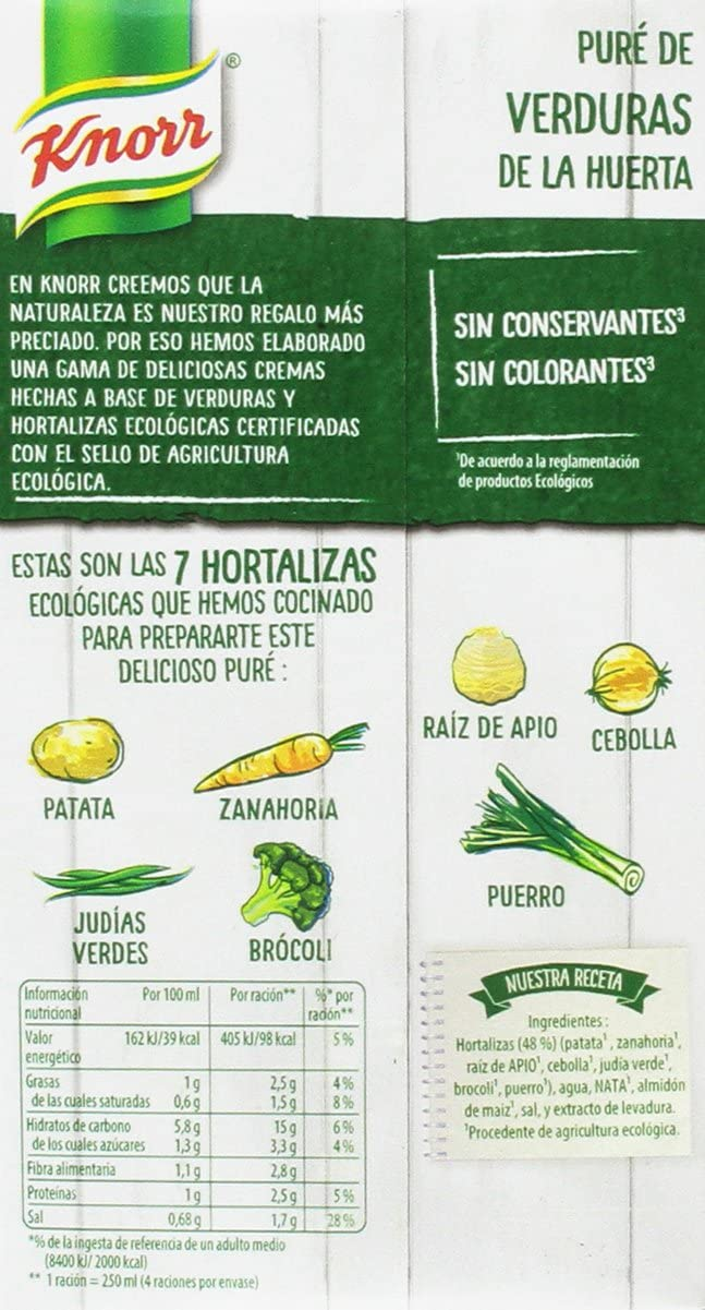 Knorr Crema Eco de Verduras - 1000 ml (BIO)