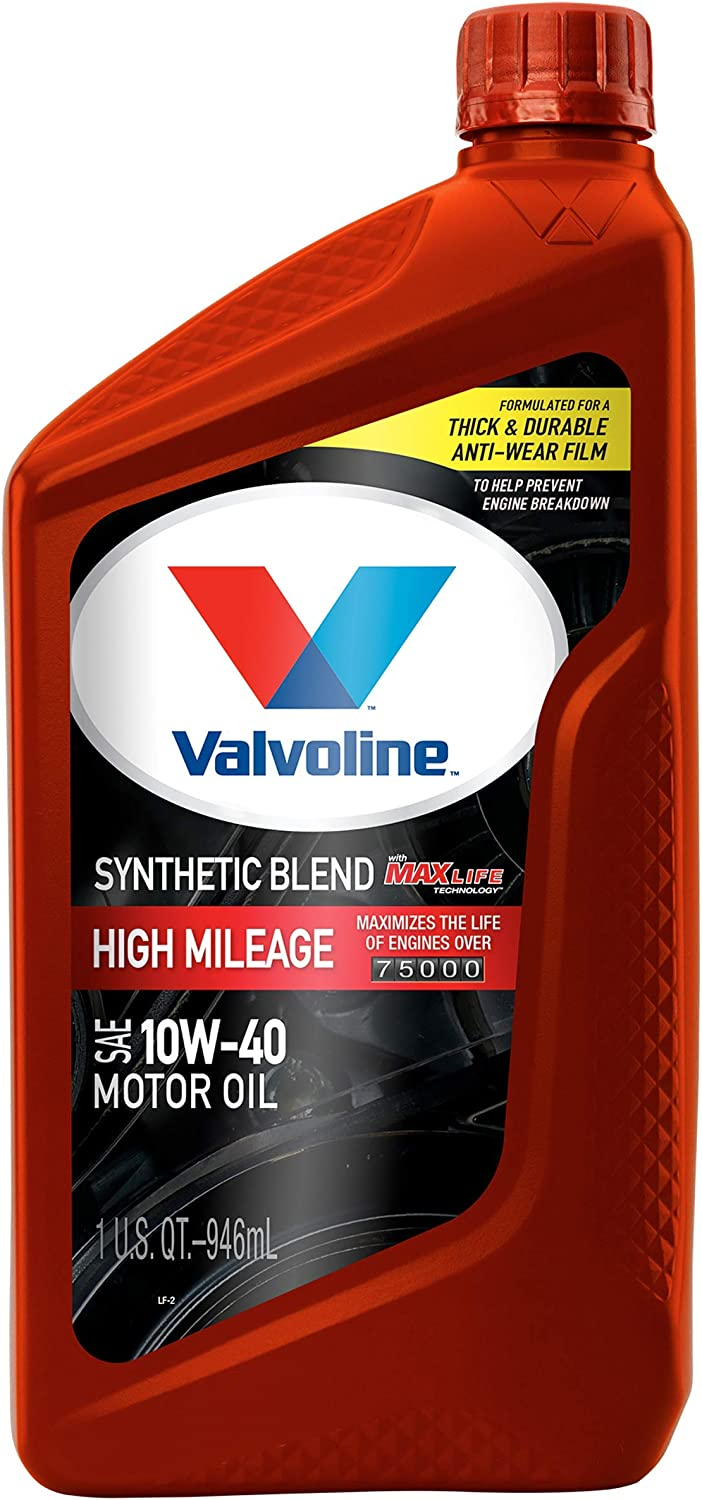 Valvoline - 797977 High Mileage with MaxLife Technology SAE 10W-40 Synthetic Blend Motor Oil 1 QT