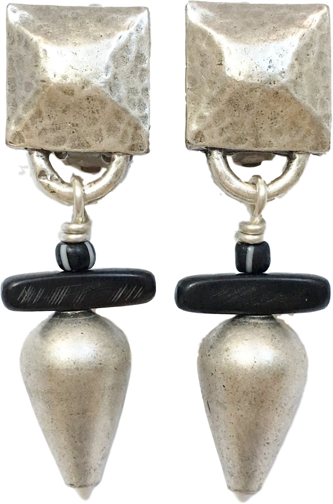 Shaune Bazner Sterling Silver-Plated Clip-on Earrings E-C7-26-SC