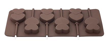 Tala - Molde para piruletas de Chocolate (Silicona), diseño de Corazones, Color