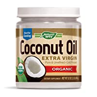 Nature's Way Organic Extra Virgin Coconut Oil, Pure & Unrefined, Cold-Pressed, USDA...