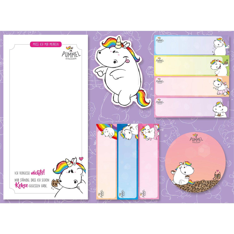 Pummel Unicorn Sticky Notes Set,/5/Pieces,/5/x 25/Sheets