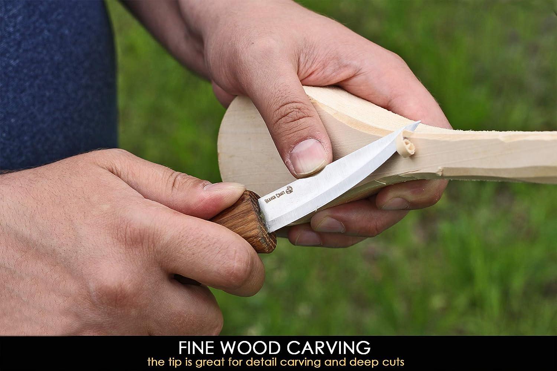 "BeaverCraft Sloyd Knife C4 3.14"" Wood Carving Sloyd whittling Knife"