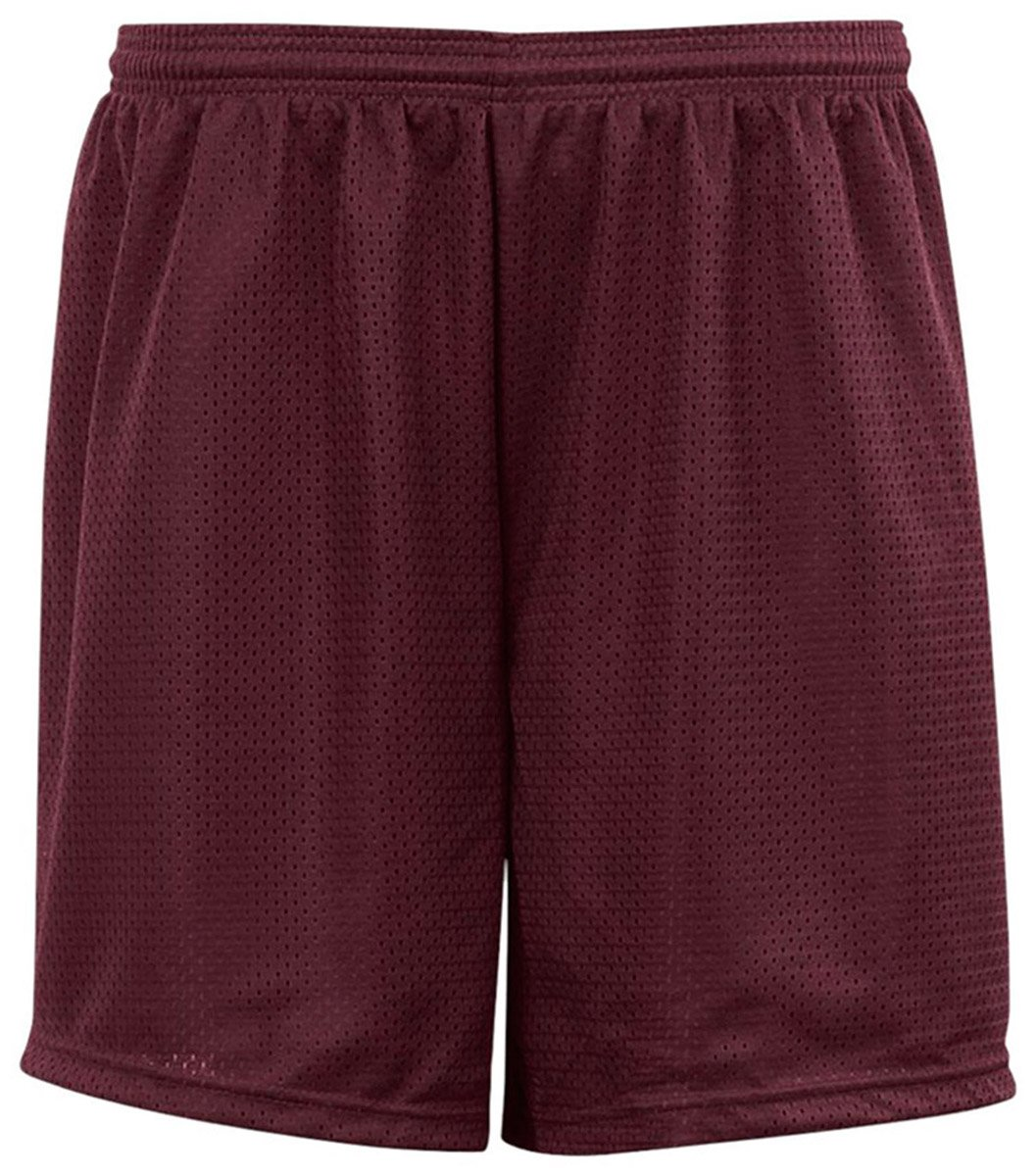 Unisex Child C2 5209 Sport Big Kids Youth Mesh 6'' Short Maroon Small by C2 Sport