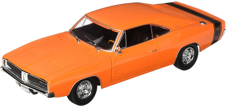 1969 DODGE  CHARGER R//T Orange MAISTO 1:18 DIECAST METAL New In Box