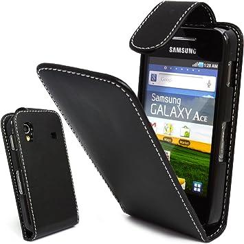 Mobile Bar Noir Housse étui coque cuir avec rabat pour Samsung ...