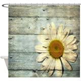 CafePress - Shabby Chic Country Daisy - Decorative Fabric Shower Curtain