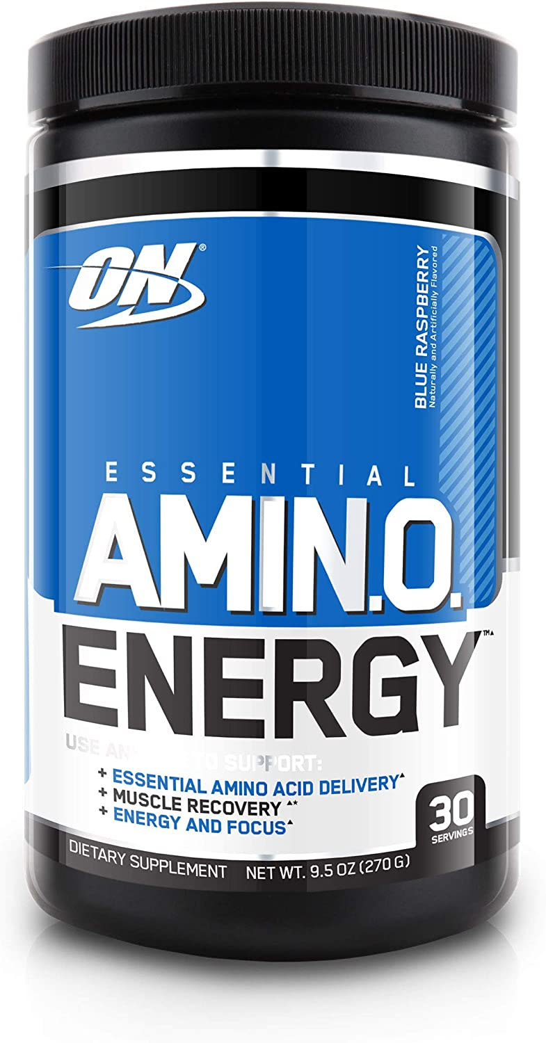 Optimum Nutrition Amino Energy - Pre Workout with Green Tea, BCAA, Amino Acids, Keto Friendly, Green Coffee Extract, Energy Powder - Blue Raspberry, 30 Servings: Health & Personal Care
