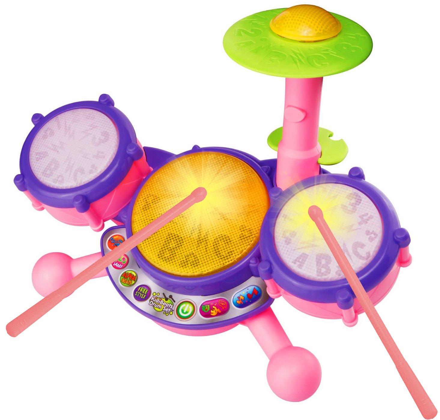 VTech KidiBeats Drum Set, Pink