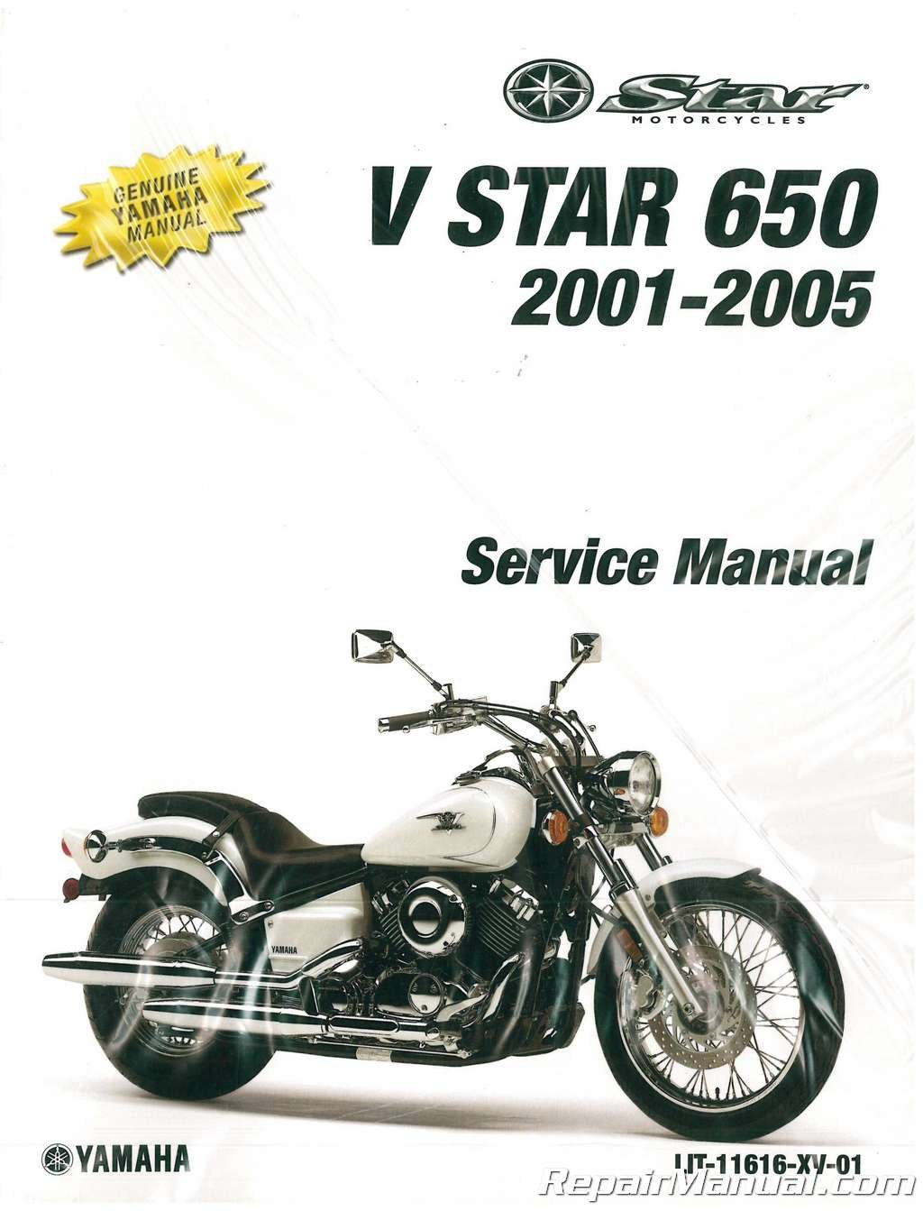 LIT-11616-XV-01 2001-2005 Yamaha XVS650 V-Star Silverado Classic Motorcycle Service  Manual: Manufacturer: Amazon.com: Books