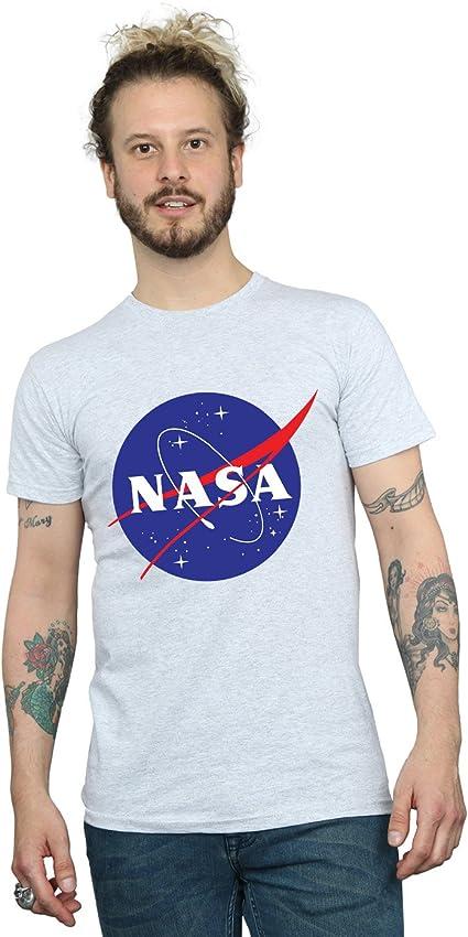 TALLA L. Nasa Hombre Classic Insignia Logo Camiseta