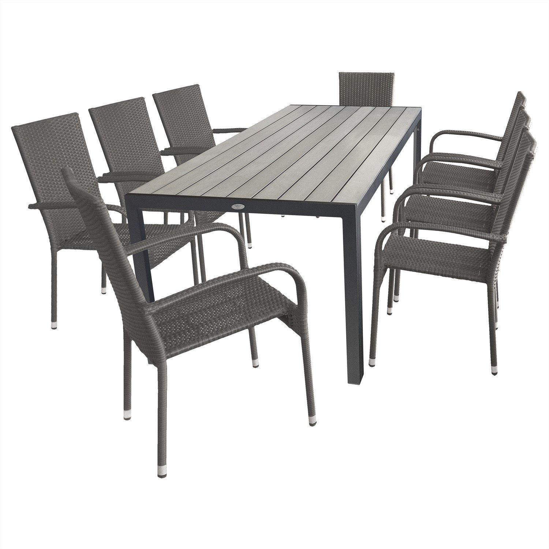 9tlg. Gartengarnitur Terrassenmöbel Gartenmöbel Set Sitzgruppe ...