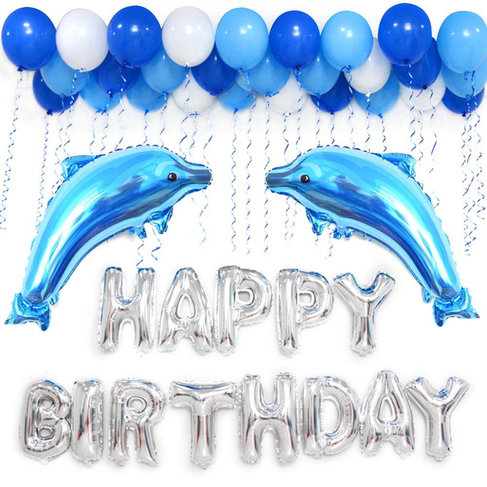 Amazon.com: LUCK COLLECTION Happy Birthday Balloons Decoration Kits ...