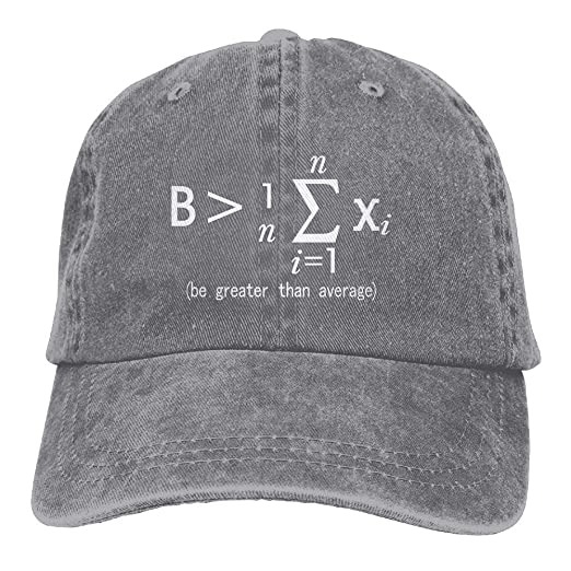 14abc4aa32e Vintage Cap Hat Be Greater Than Average Nerd Math Six-Panel 3D Print  Adjustable Baseball