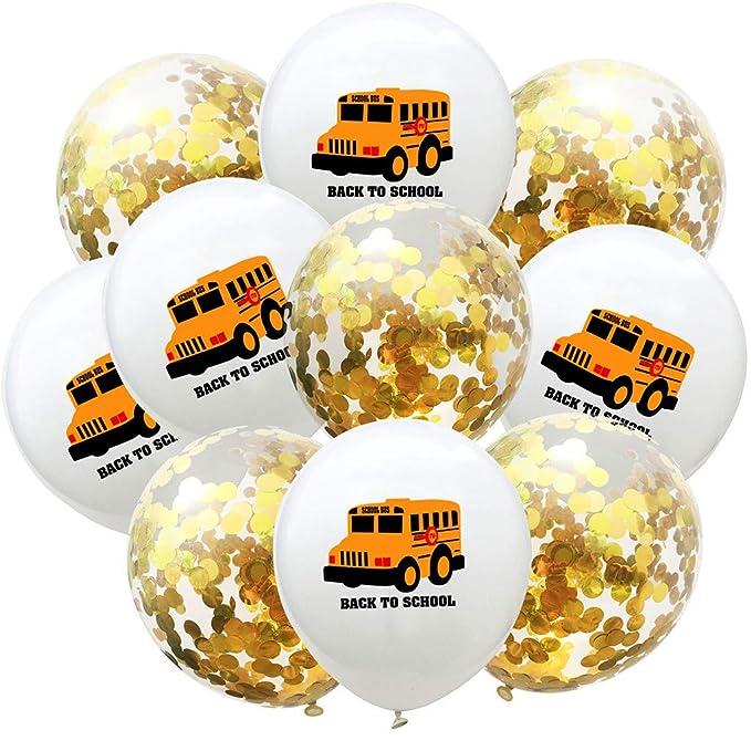 Dapei - Globos hinchables (10 unidades), diseño de autobús y ...
