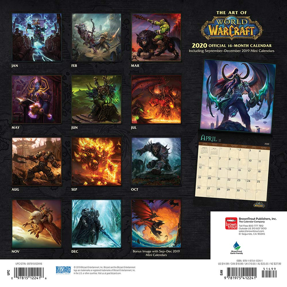Amazon.com: World of Warcraft 2020 12 x 12 Inch Monthly Square
