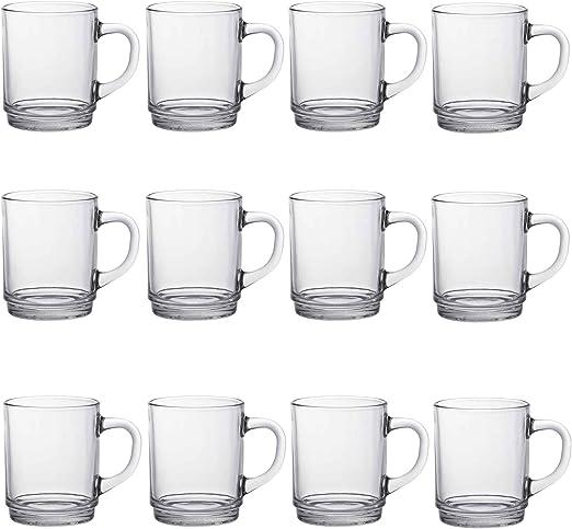 Duralex Versailles - Juego de Tazas para café o té - Transparente ...
