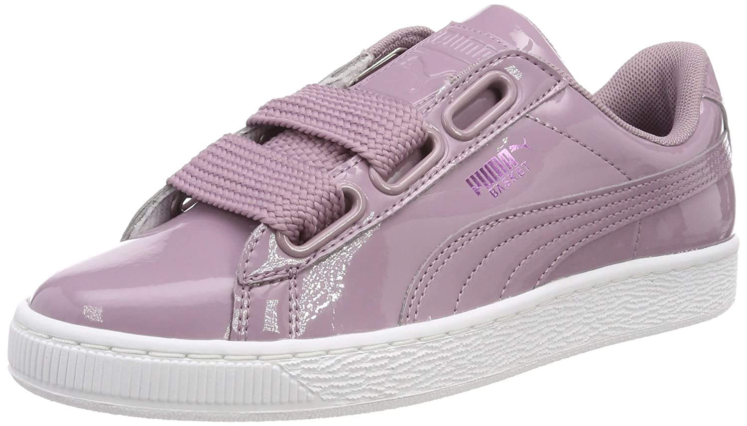 sports shoes 2ab87 67167 Amazon.com | PUMA Women's Basket Heart Patent WN's Low-Top ...