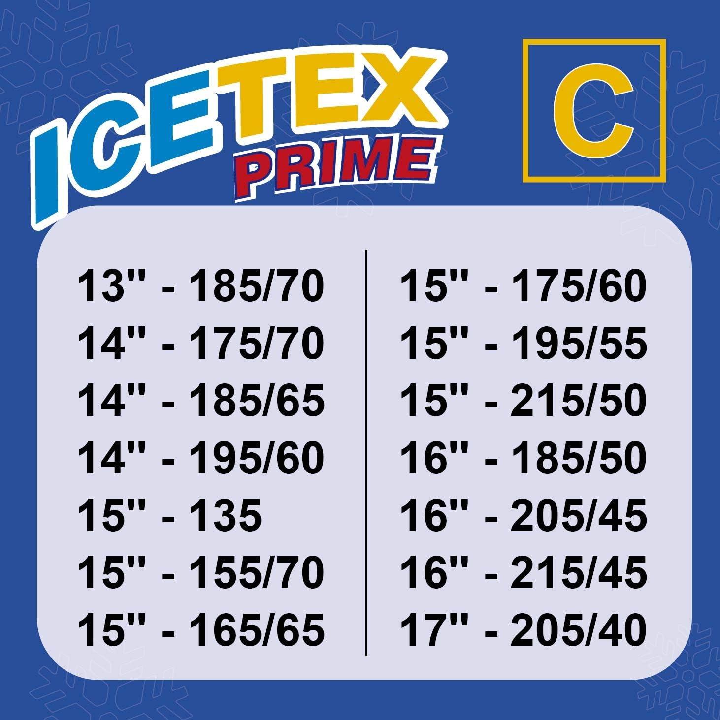 Chaussettes Textiles Antid/érapantes - 3405.0051811 Chaine De Neige Textile Taille XS Adh/érence Maximale ICETEX PRIME