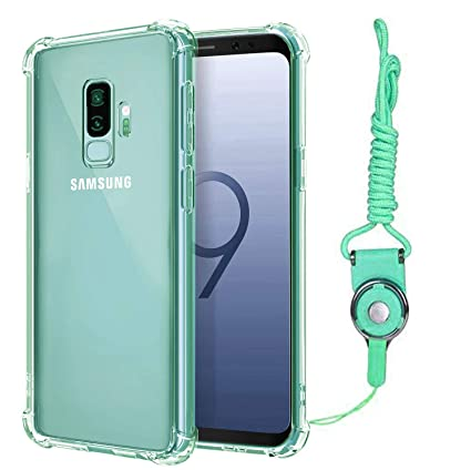 new concept ed8bc 37e39 Calmpal Galaxy S9 Plus Case,Colorized Transparent Case with Extra Thick  Corners and Air Cushion Technology Shock-Absorption Soft TPU Case with Cute  ...