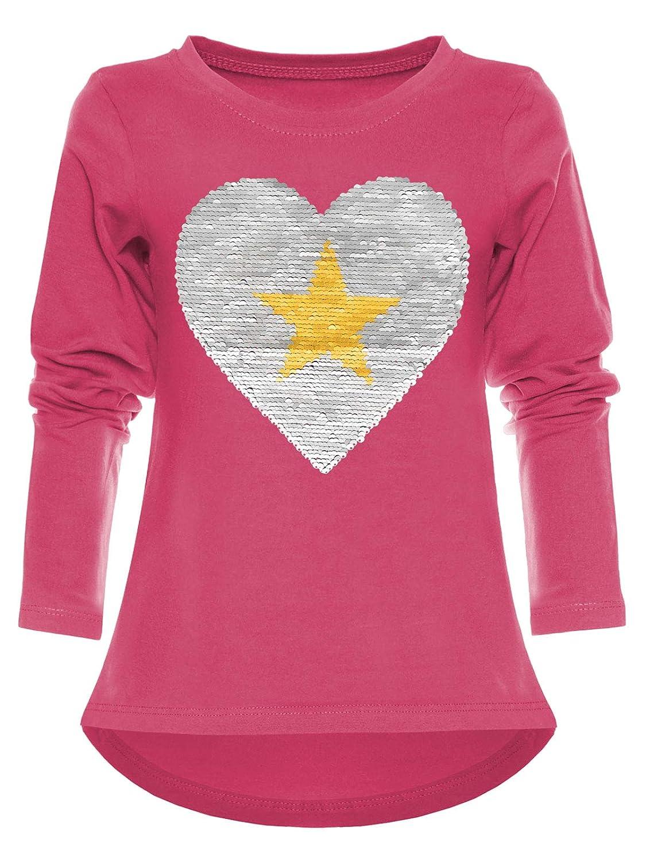5c3fa86be8 Pullover Mädchen Kinder Sweatshirt Wende Pailletten Meliert Langarm Pulli  22857 Kleidung & Accessoires