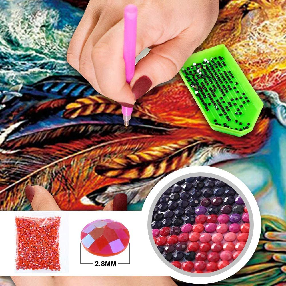 DIY 5D Diamond Painting Kits for Adults Full Drill Embroidery Paintings Rhinestone Pasted DIY Painting Cross Stitch Arts Crafts for Home Wall Decor 40x50cm//15.8/×19.6Inches Beauty and Butterflies