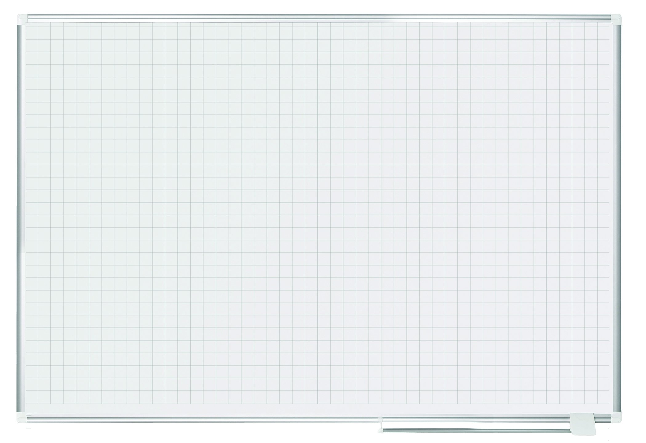 MasterVision Planning Board Dry Erase Magnetic,  1'' x 1'' Grid, 48'' x72'', Whiteboard with Aluminum Frame