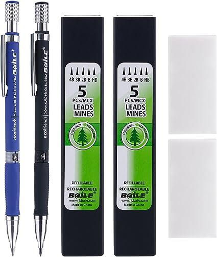 Mine per matite da 2 mm 12 pezzi colore: nero 2B