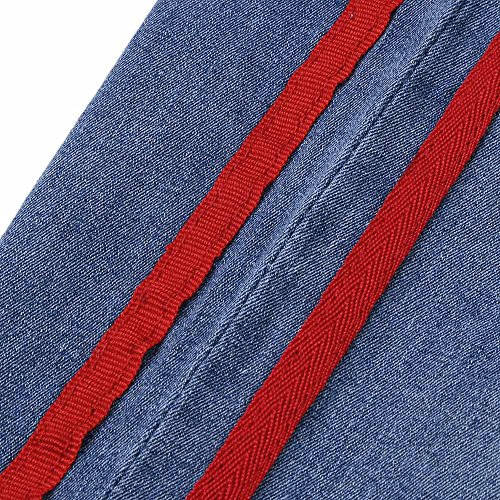 Agujero L Alta Denim Mujeres Pantalones Cintura Adeshop Estiramiento REpq6nxwnT