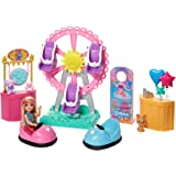 Barbie Club Chelsea Doll and Carnival Playset, 6-inch Blonde Wearing Fashion and Accessories, with Ferris Wheel, Bumper…