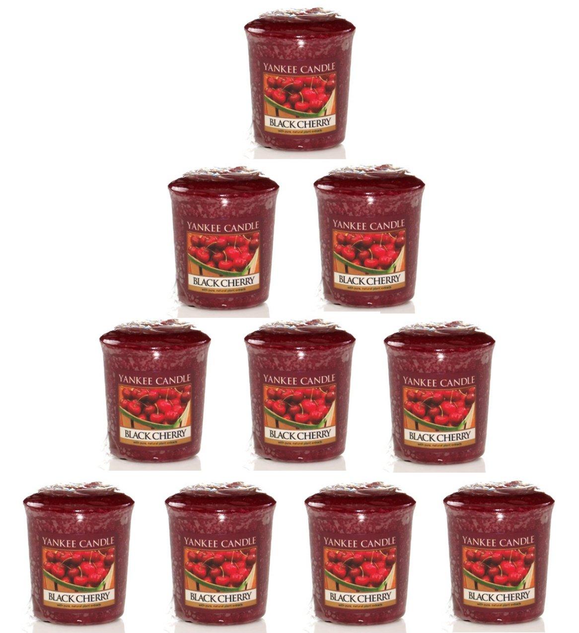 Yankee Candle Lot de 10bougies votives parfumées Cerise Noir