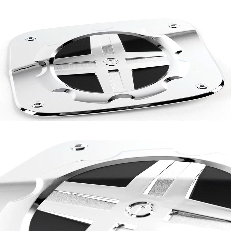 Chrome Gas/Fuel Door Cap Molding Trim Cover for 2007 2008 2009 2010 2011 2012 2013 Hyundai Grand Starex/i800/iMax/H-1/iLoad/Satellite/Montana/Dodge H100 SAFE