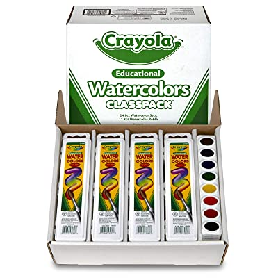 Crayola Watercolors Classpack, 24 Paint Pans, 12 Refills, Assorted: Toys & Games