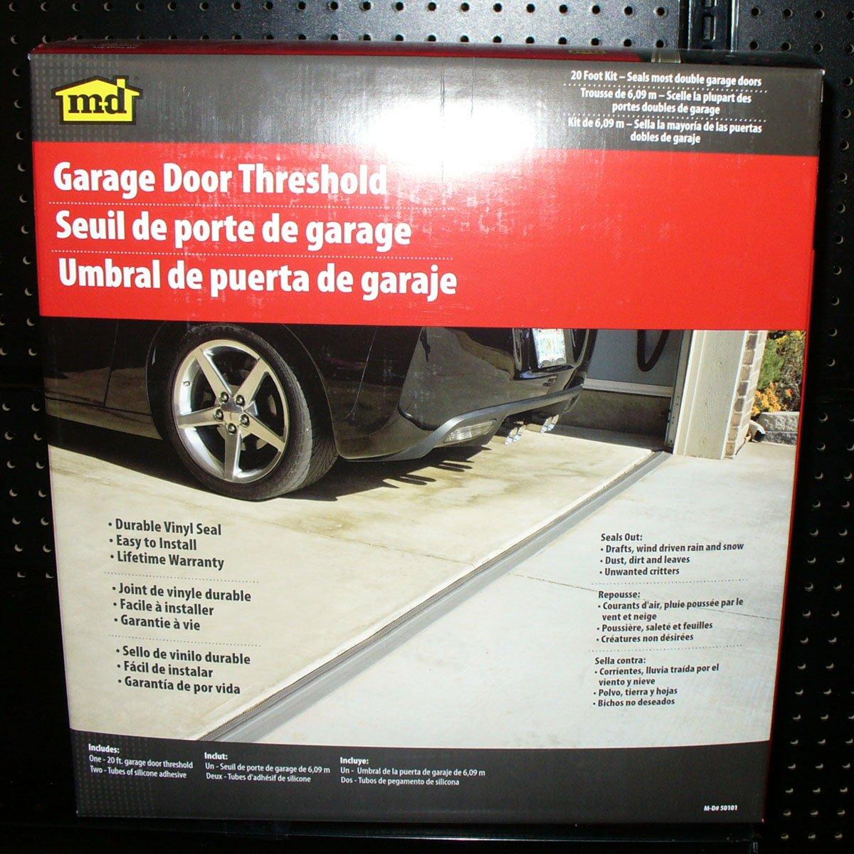 M D Building Products 50101 20 Feet Double Door Garage Door