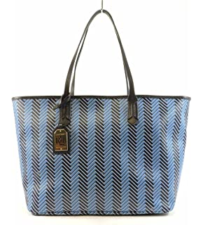 2e5fe9a22172 Lauren Ralph Lauren Womens Boswell Classic Tote Fashionable Hand Bag Cyan  Marine S