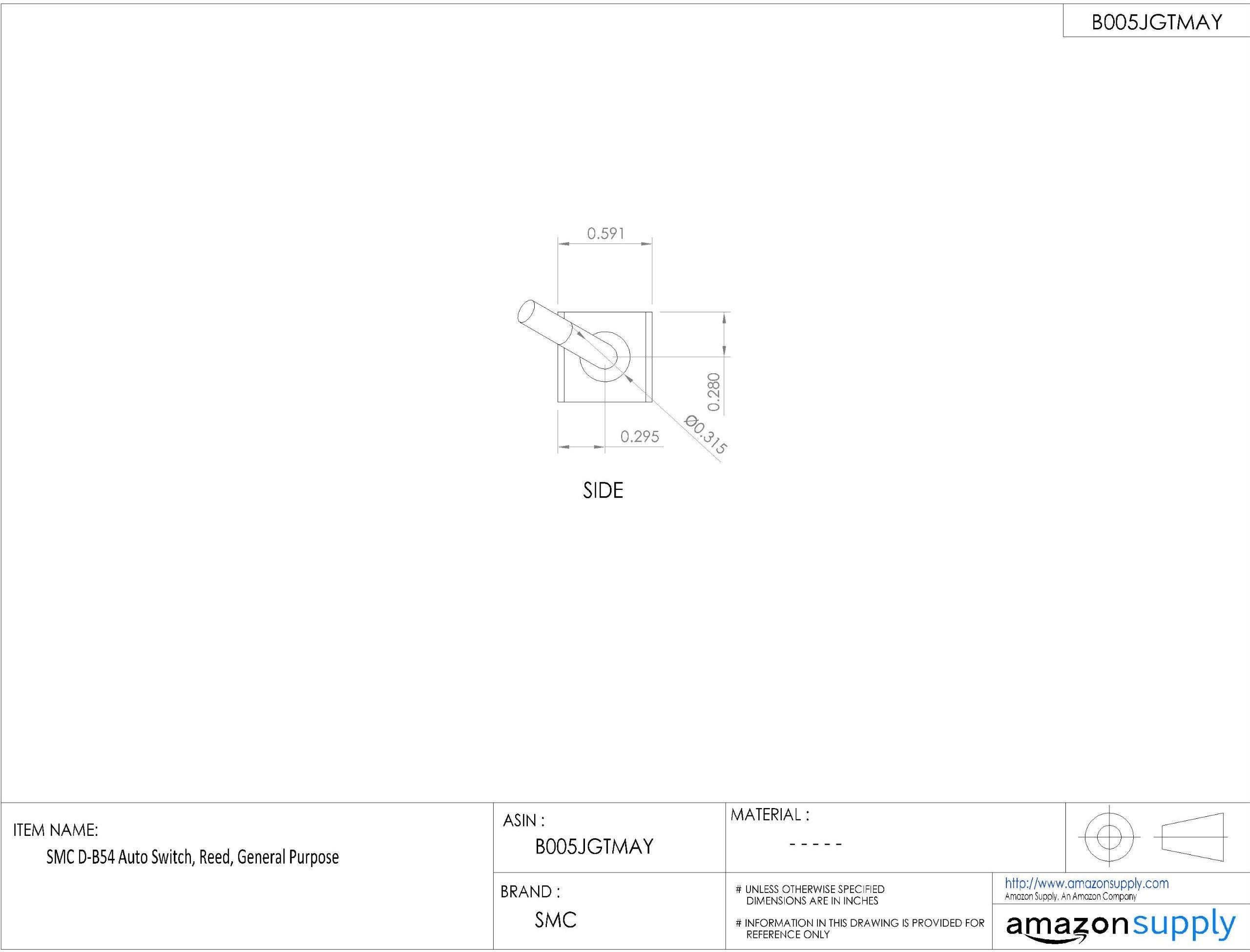 SMC D-B54 Auto Switch, Reed, General Purpose