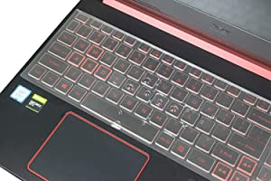 Ultra Thin Keyboard Cover Compatible with Acer Nitro 5 AN515-54, Nitro 7 AN715-51, Nitro 5 AN517-51, Helios 300 PH315-52 Game Laptop - TPU
