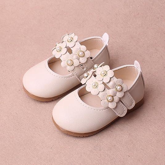 Topgrowth Scarpe da Bambina Sandali Floreali Scarpe di Pelle Principessa Neonata Ragazze Mary Jane Scarpe Singole Casual 3-24 Mesi (17, Rosa)