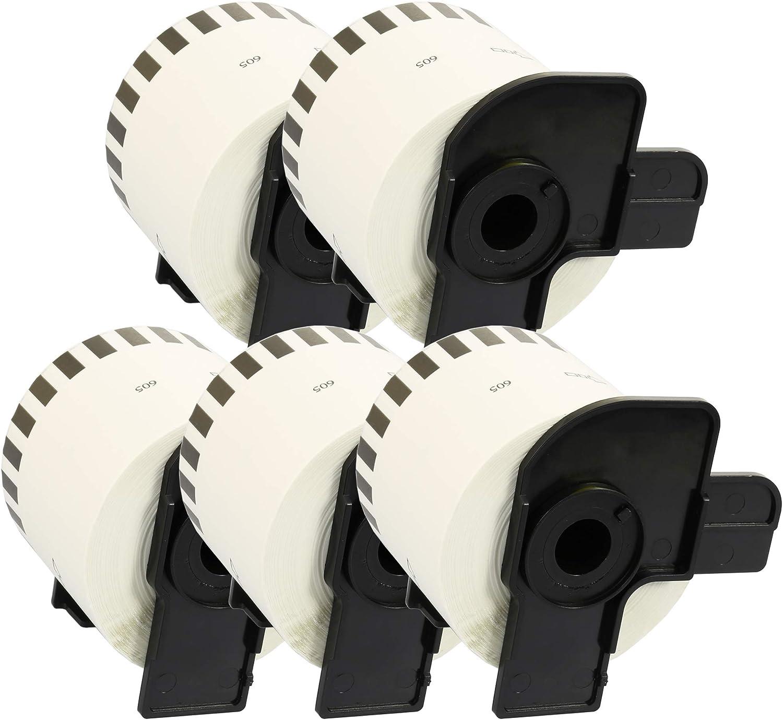 Kit 2 Cartridges Kingdom DK11218 DK-11218 24mm x 24mm Etichette Circolari compatibili per BROTHER P-Touch Stampanti 1000 Etichette per Rotolo Nastro in Carta