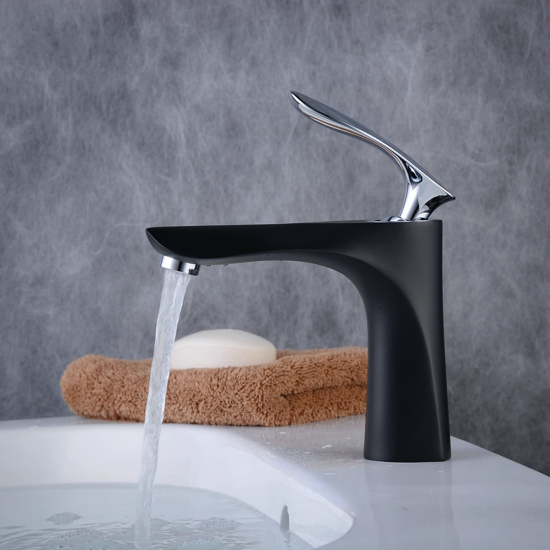 Robinet Salle de Bain Mitigeur Lavabo Robinet Nickel Bross/é Basin Tap Bathroom Basin Tap Mixeur Basin Faucet Bathroom