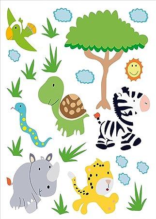 Amazon.de: infactory Sticker-Bogen: Tierisch lustige Wandtattoos ...