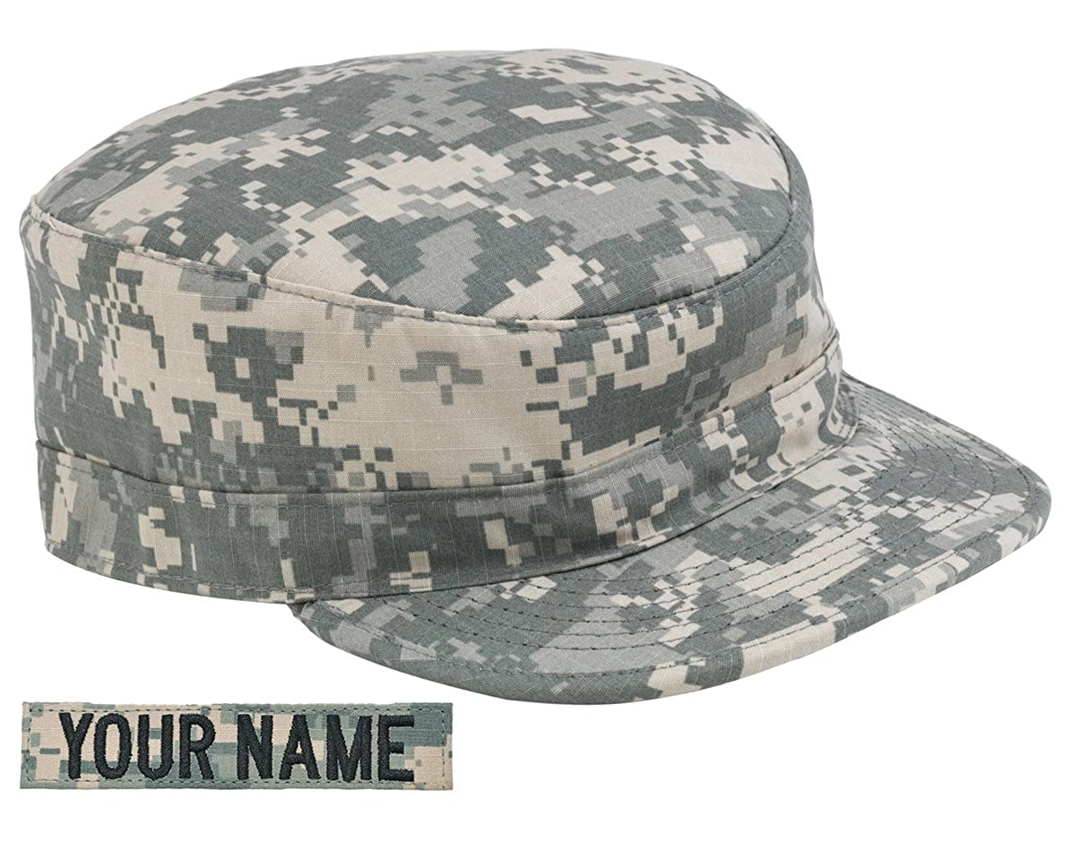1d1e87e7cad Amazon.com  Custom U.S. Army ACU Name Tag with Patrol Cap  Clothing