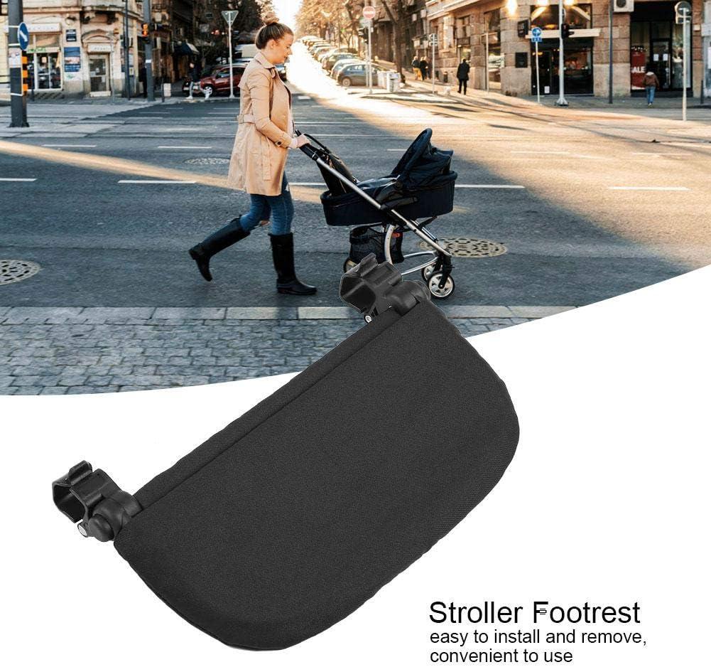 Negro Accesorios para el reposapi/és del cochecito 14cm Soporte para el cochecito del beb/é Reposapi/és reposapi/és universal Pedal del asiento extendido Soporte para el pie