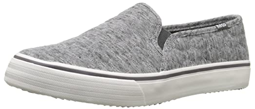 Keds Women's Double Decker Quilted Jersey Fashion Sneaker, Charcoal, ...