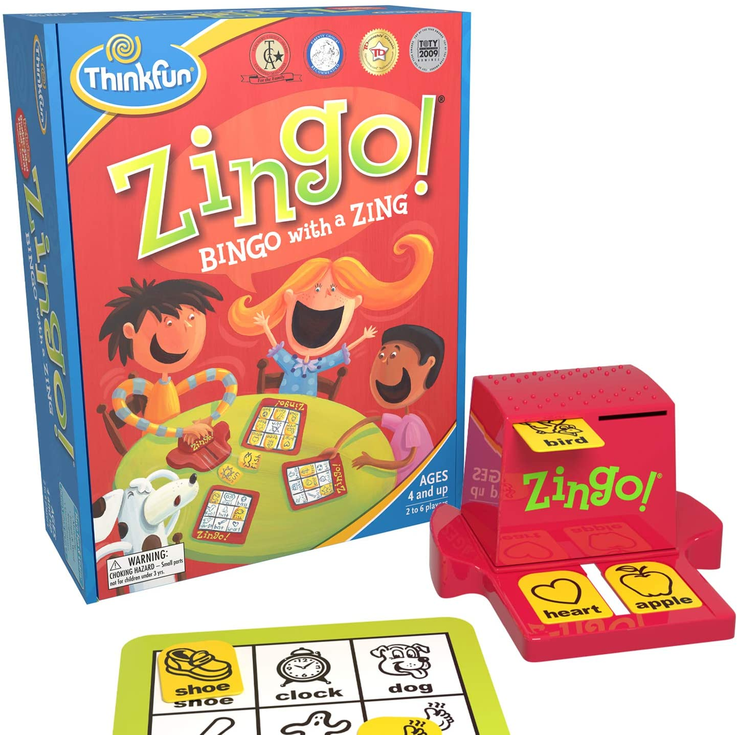Think fun Zingo Bingo dyslexia board game